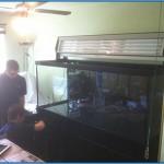 Installing the aquarium lighting